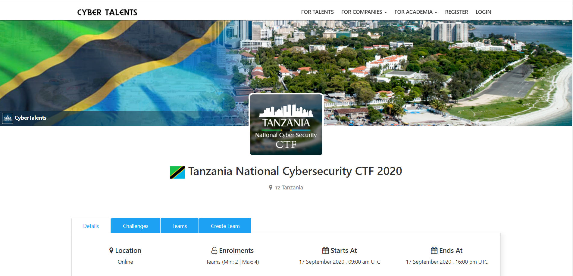Tanzania National CyberSecurity Competition – CyberTalent.